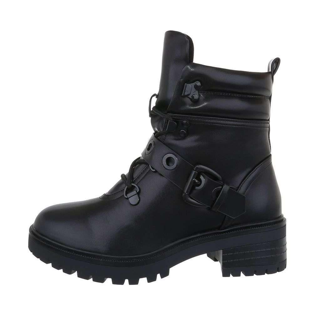 Čierne členkové topánky - 36 EU shd-okk1291bl