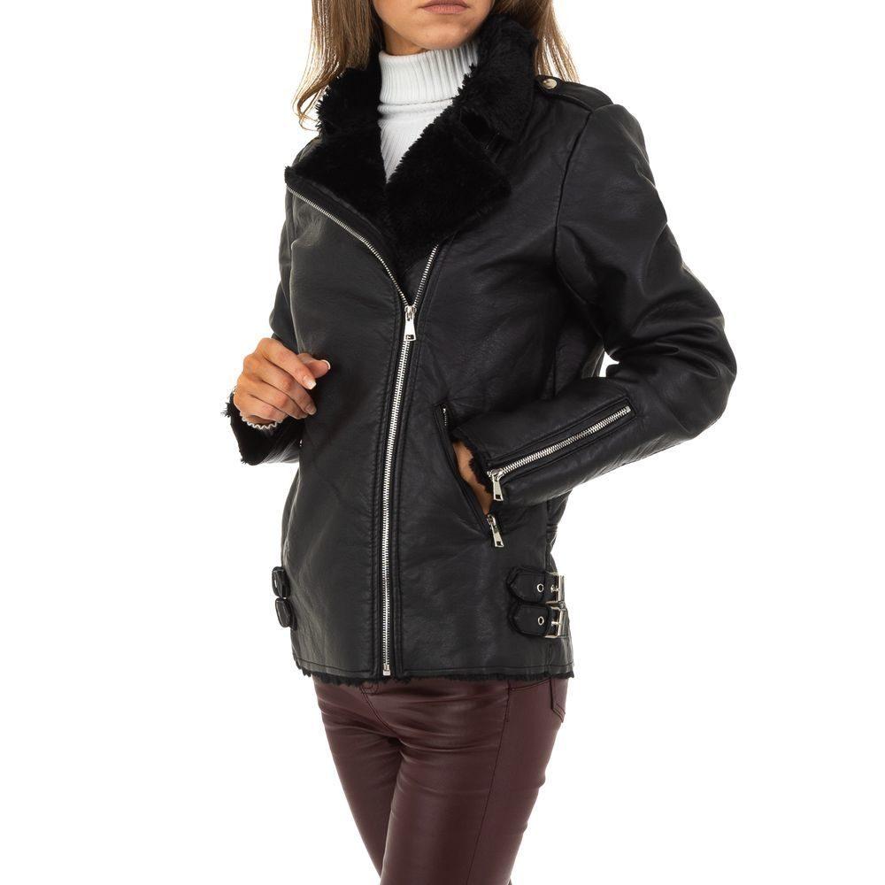 Zimná koženková bunda - XL/42 EU shd-bu1205bl