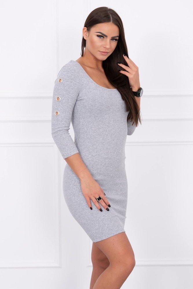 Volnočasové dámské šaty - S/M Kesi ks-sa5324gr