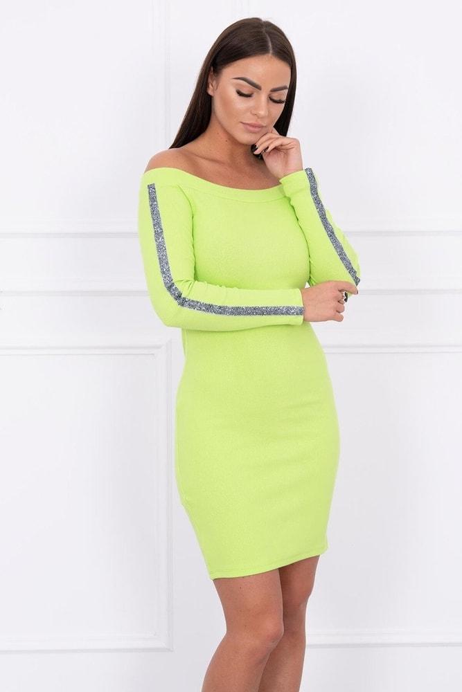 Dámske šaty s lampasmi - S/M Kesi ks-sa5335sze