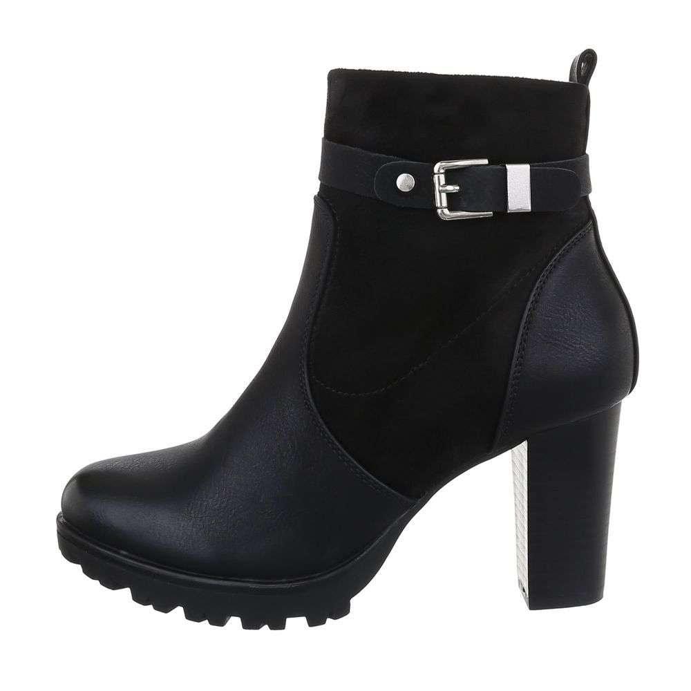 Čierne topánky na podpätku - 37 EU shd-okk1226bl