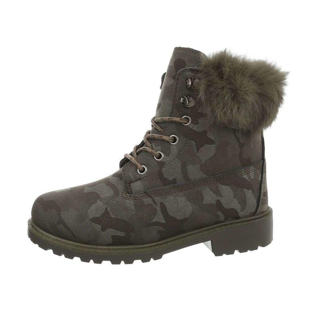 EU Kotníkové šněrovací boty na zimu