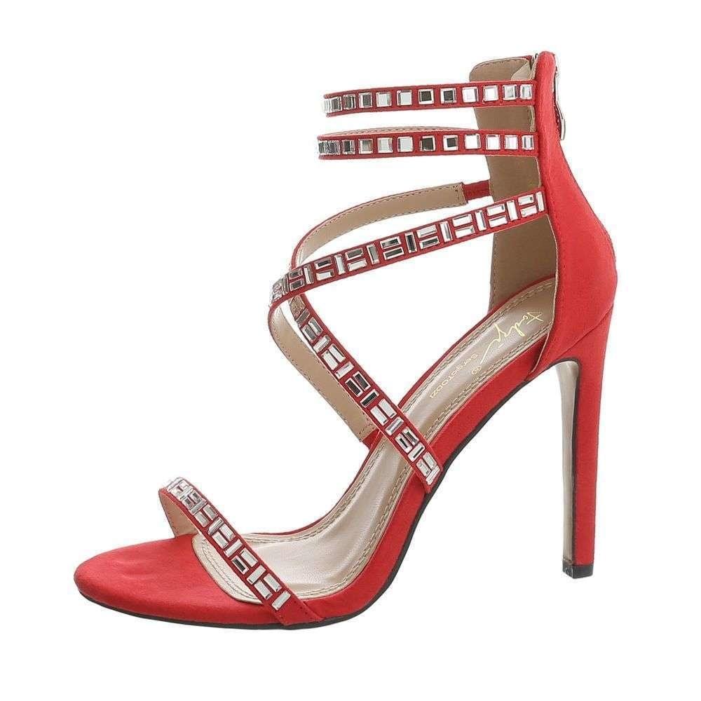 Červené sandálky na podpätku - 40 EU shd-osa1013re