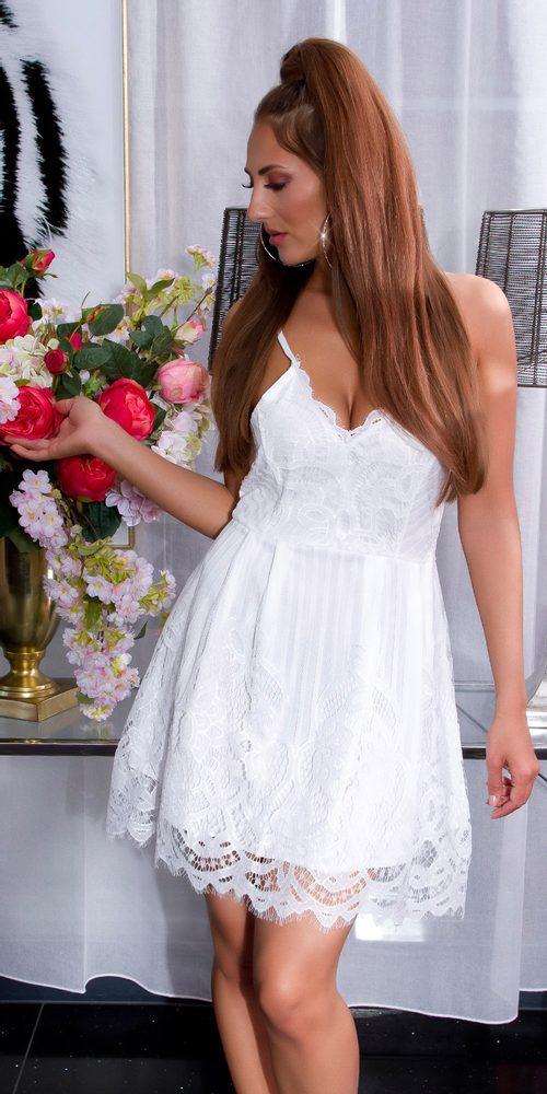 Krajkové letní šaty Koucla in-sat2199wh