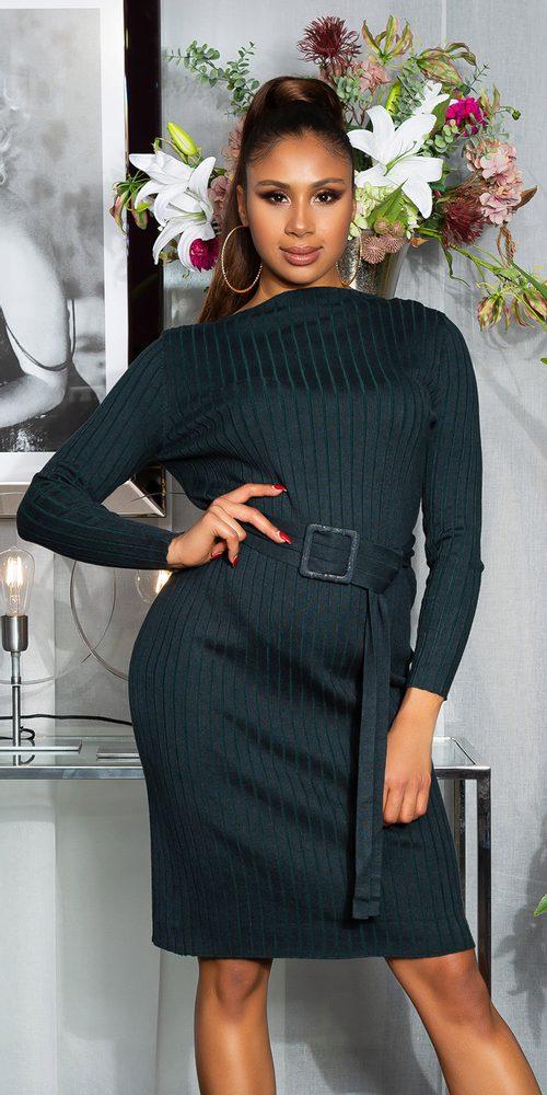 Elegantní úpletové šaty Koucla in-sat2264kh
