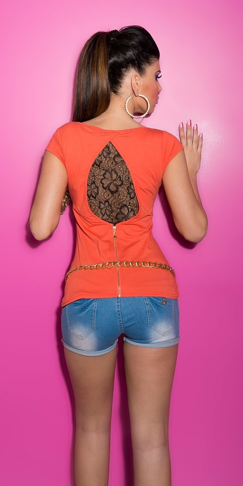 Dámske tričko s čipkou Koucla in-tr1190ko