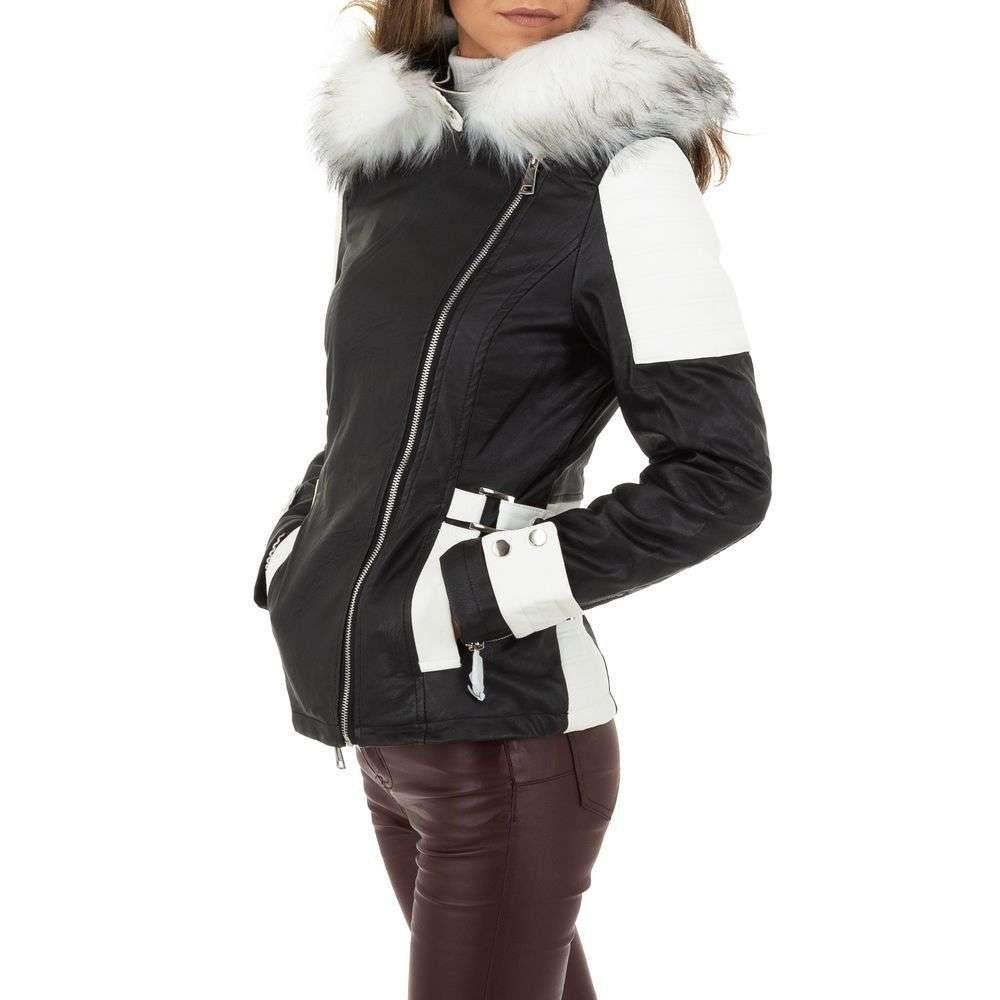 Koženková bunda s kapucňou - M/38 EU shd-bu1202wh