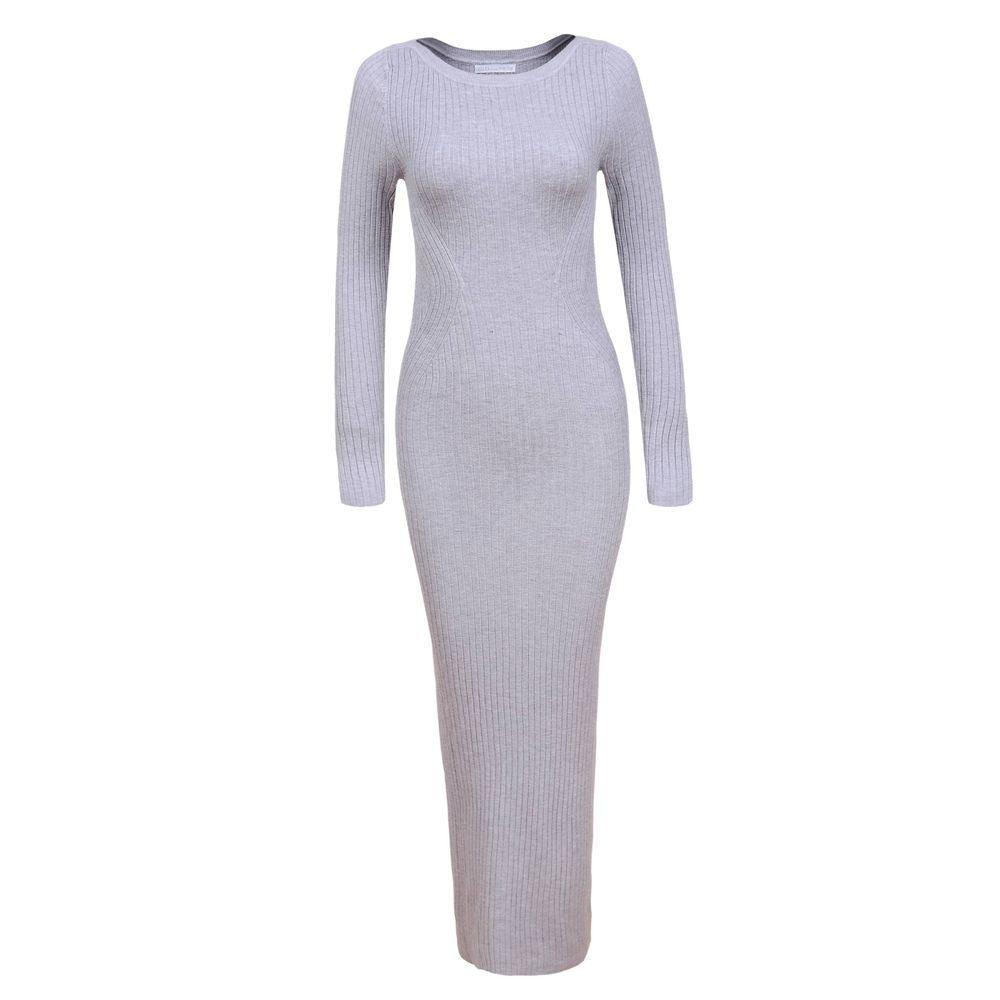 Úpletové dámské šaty - S/M EU shd-sat1254gr