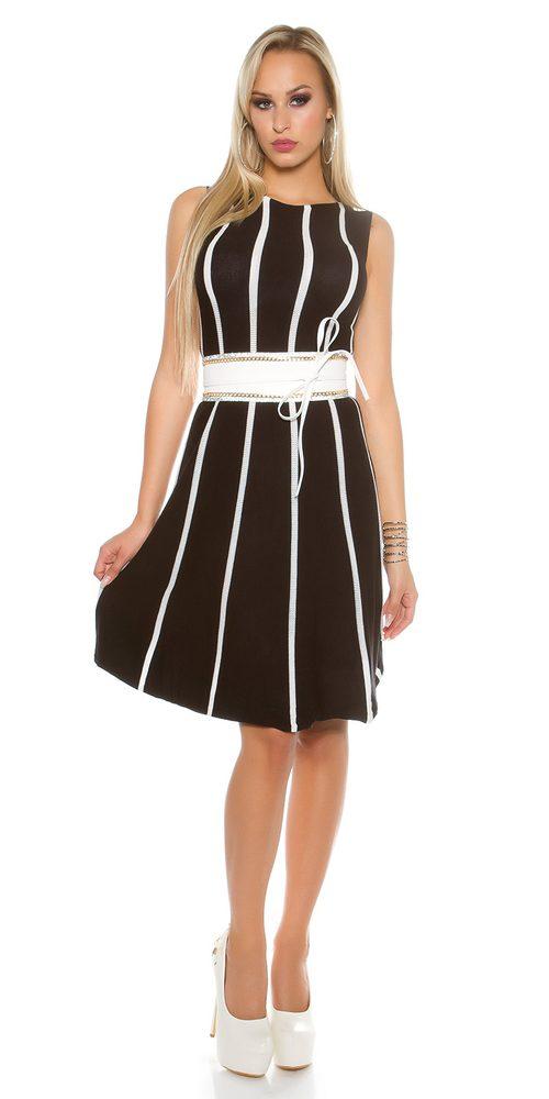 Dámské šaty z úpletu Koucla in-sat1454bl