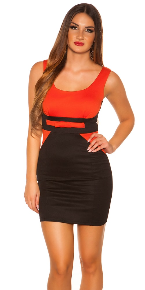 Elegantné dámske mini šaty - XL Koucla in-sat1541or