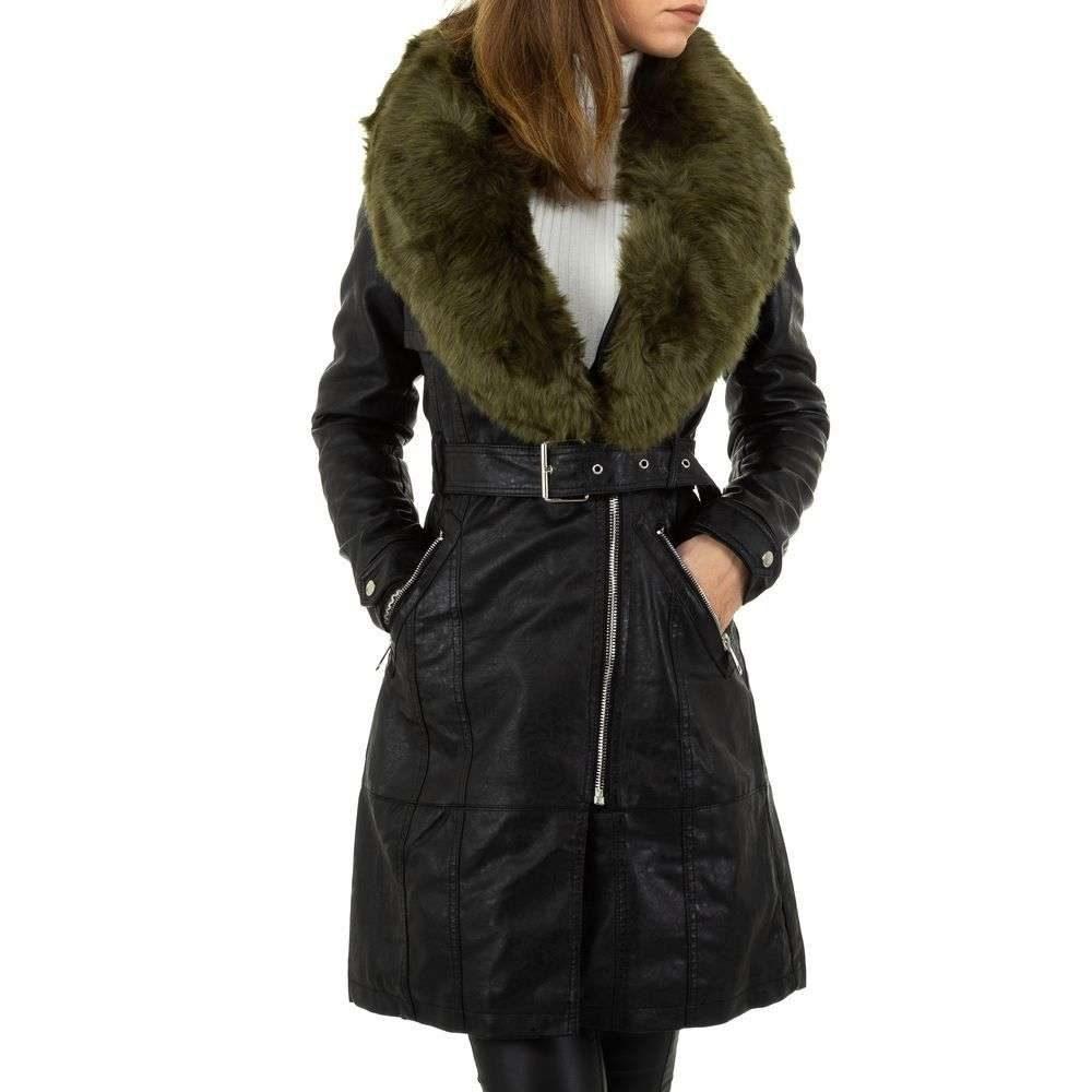 Zimná bunda z koženky - L/40 EU shd-bu1195ze