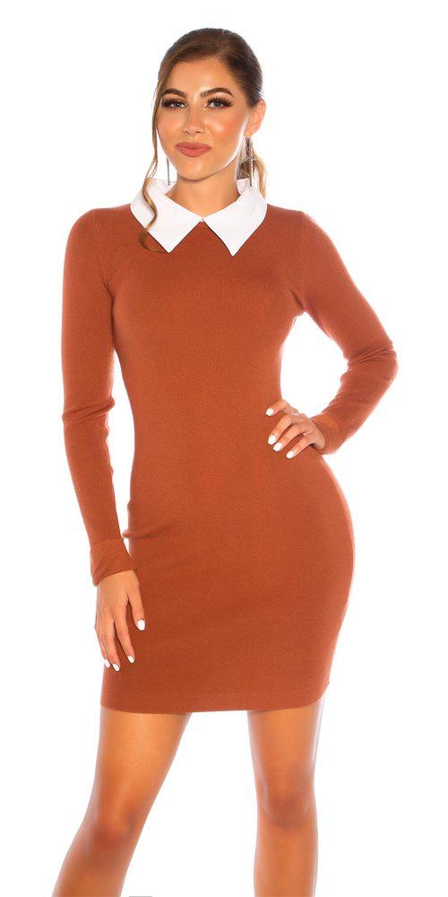 Úpletové elegantní šaty Koucla in-sat2232br