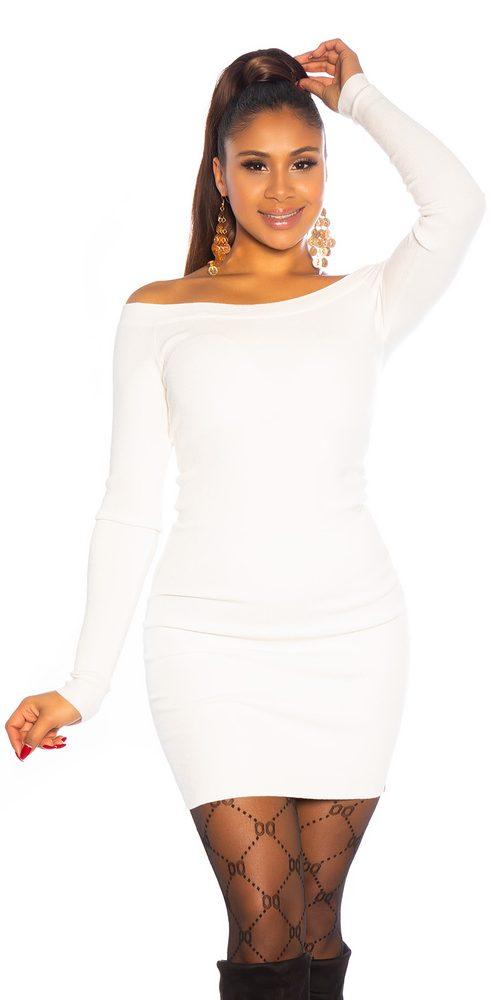 Dámské úpletové šaty Koucla in-sat2142wh