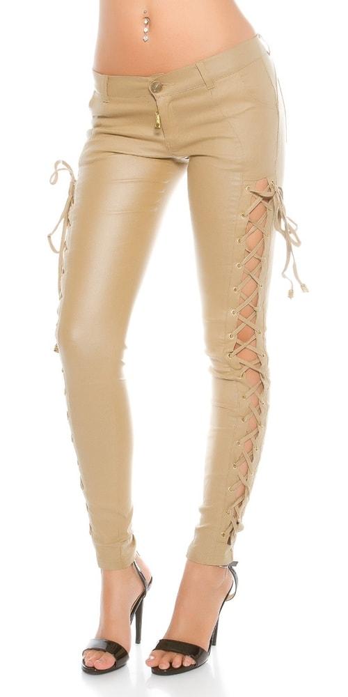 Béžové dámské kalhoty - II. jakost - 42 Koucla in-ka1039be-v