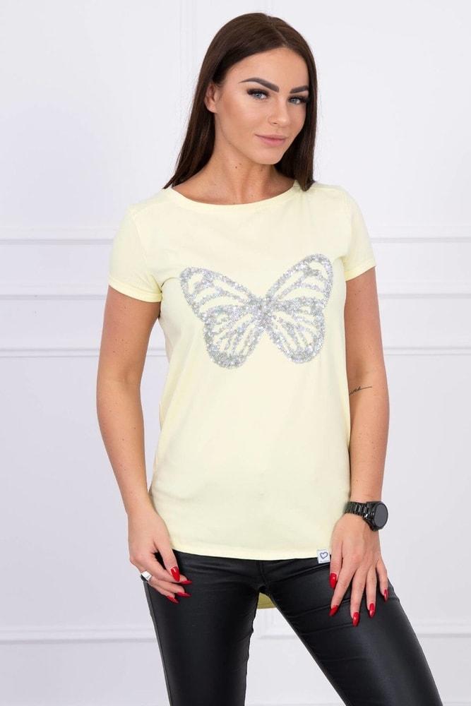 Tričko s aplikáciou motýľa Kesi ks-tr61047ge