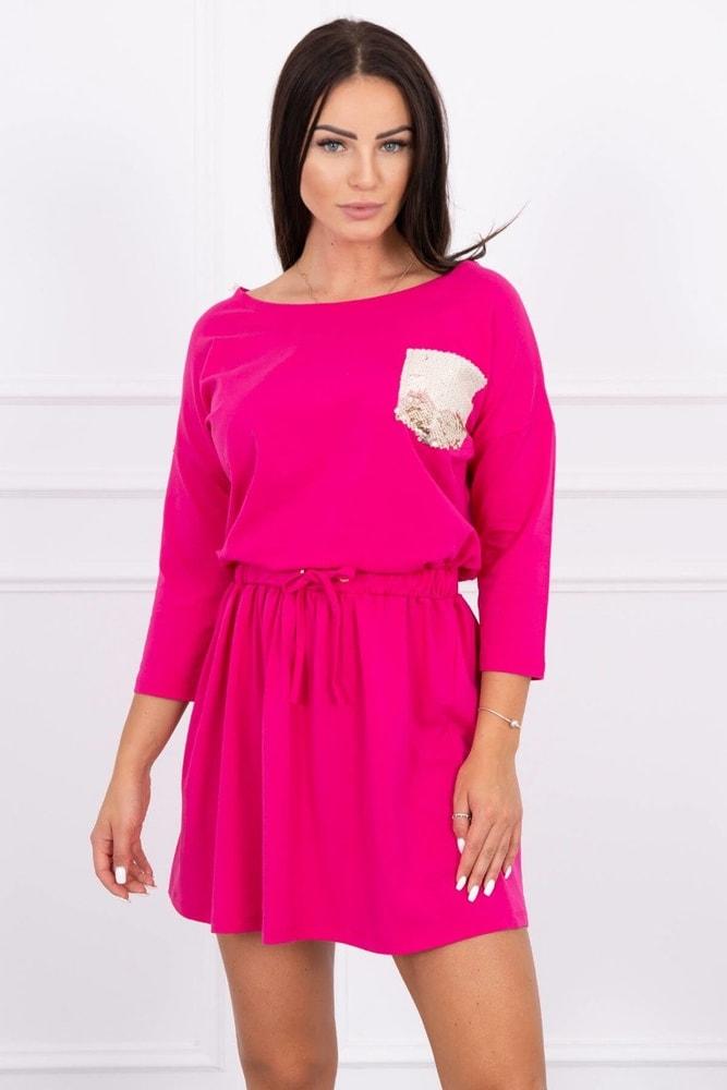Dámské šaty růžové Kesi ks-sa9004tpi