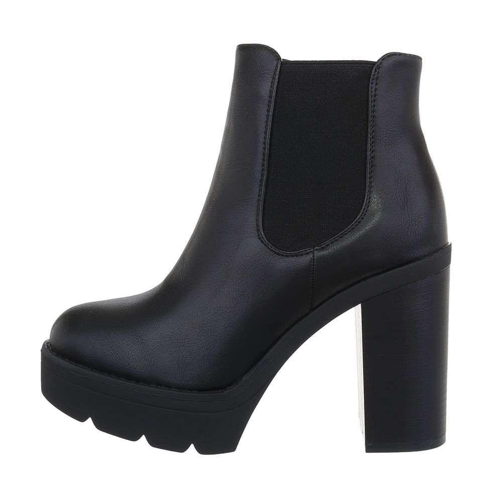 Čierne členkové topánky - 37 EU shd-okk1227bl