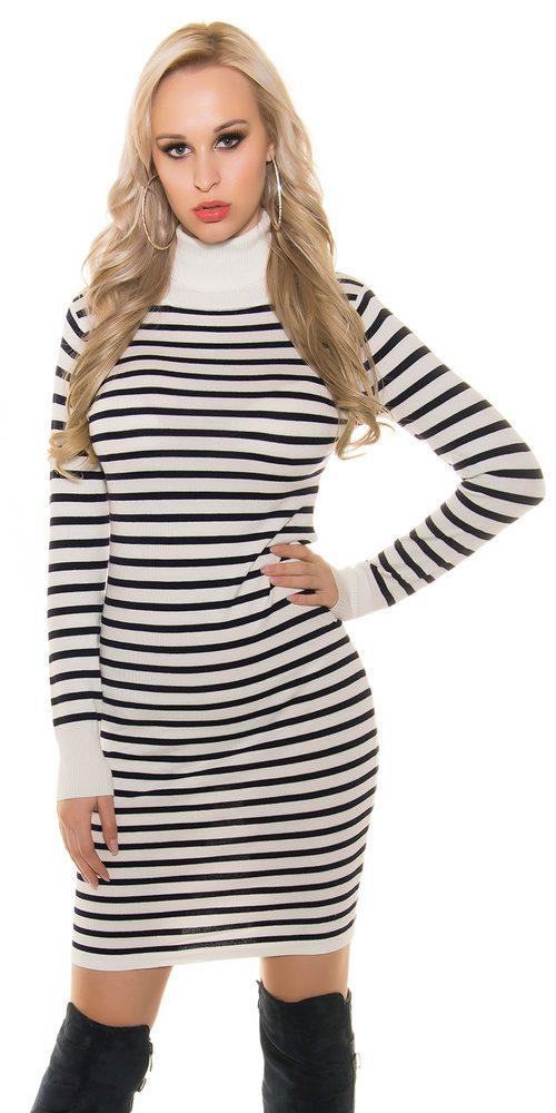 Dlouhé úpletové šaty Koucla in-sat1123wh