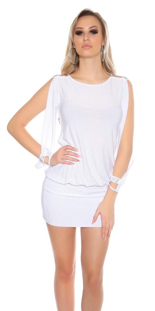 Dámske biele mini šaty Koucla in-sat1446wh