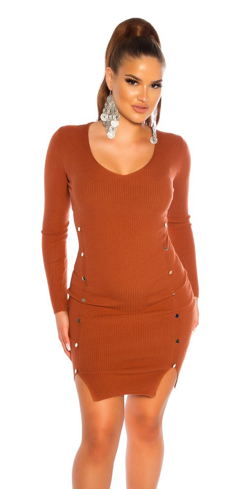Úpletové mini šaty Koucla in-sat2239br