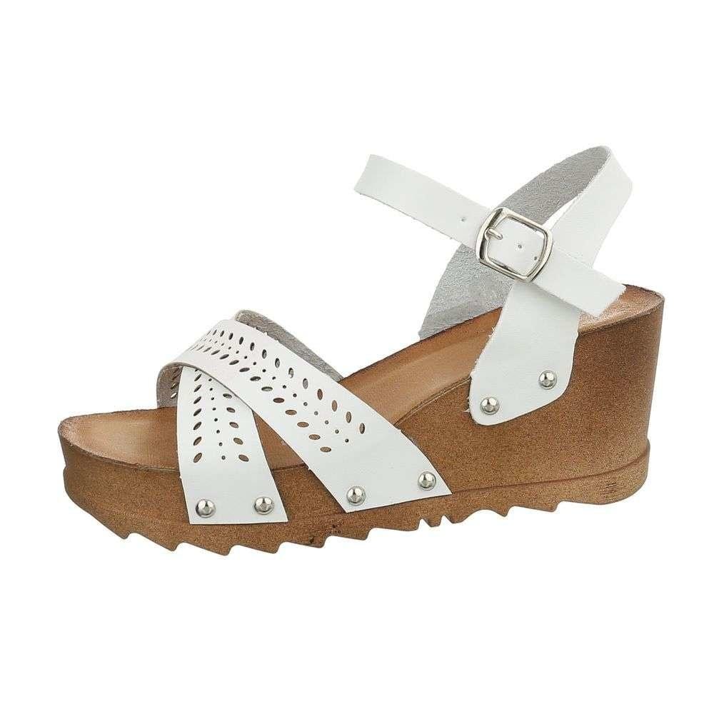 Sandále na kline biele EU shd-osa1181wh