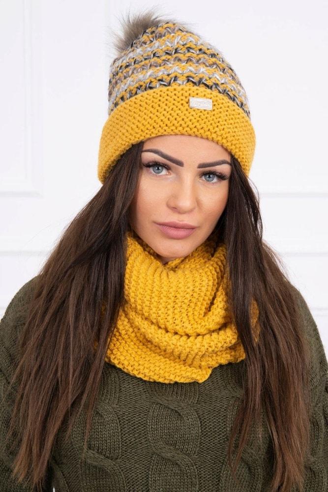 Zimná komplet čiapky a nákrčník Kesi ks-kok123ge