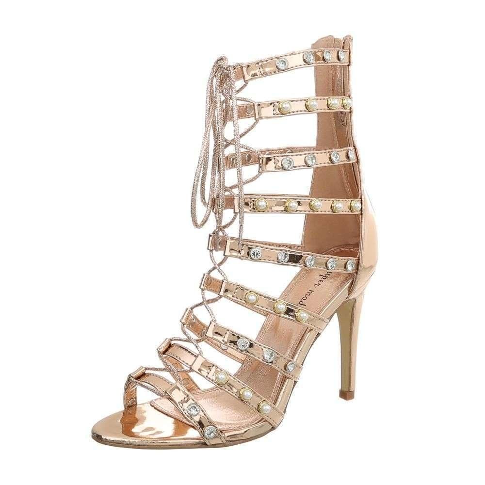 f641bcc97133 Paskove sandalky na podpatku