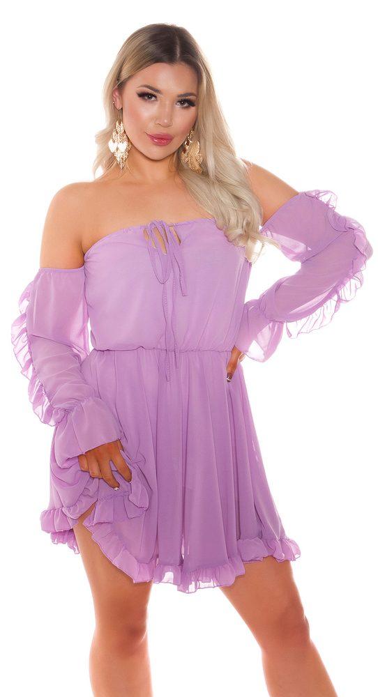 Dámské šaty s volánky Koucla in-sat2268li