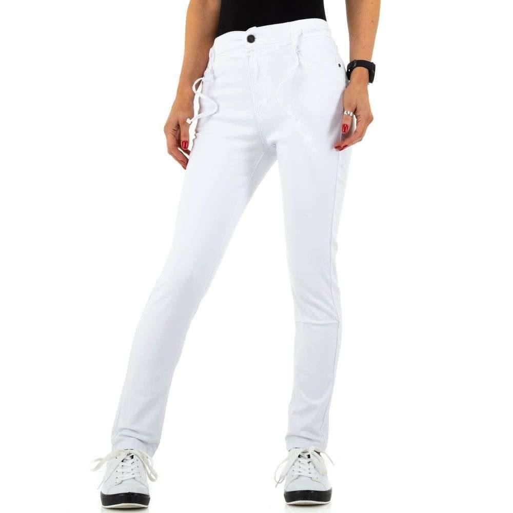 Bílé džíny s nápletem EU shd-ri1400wh