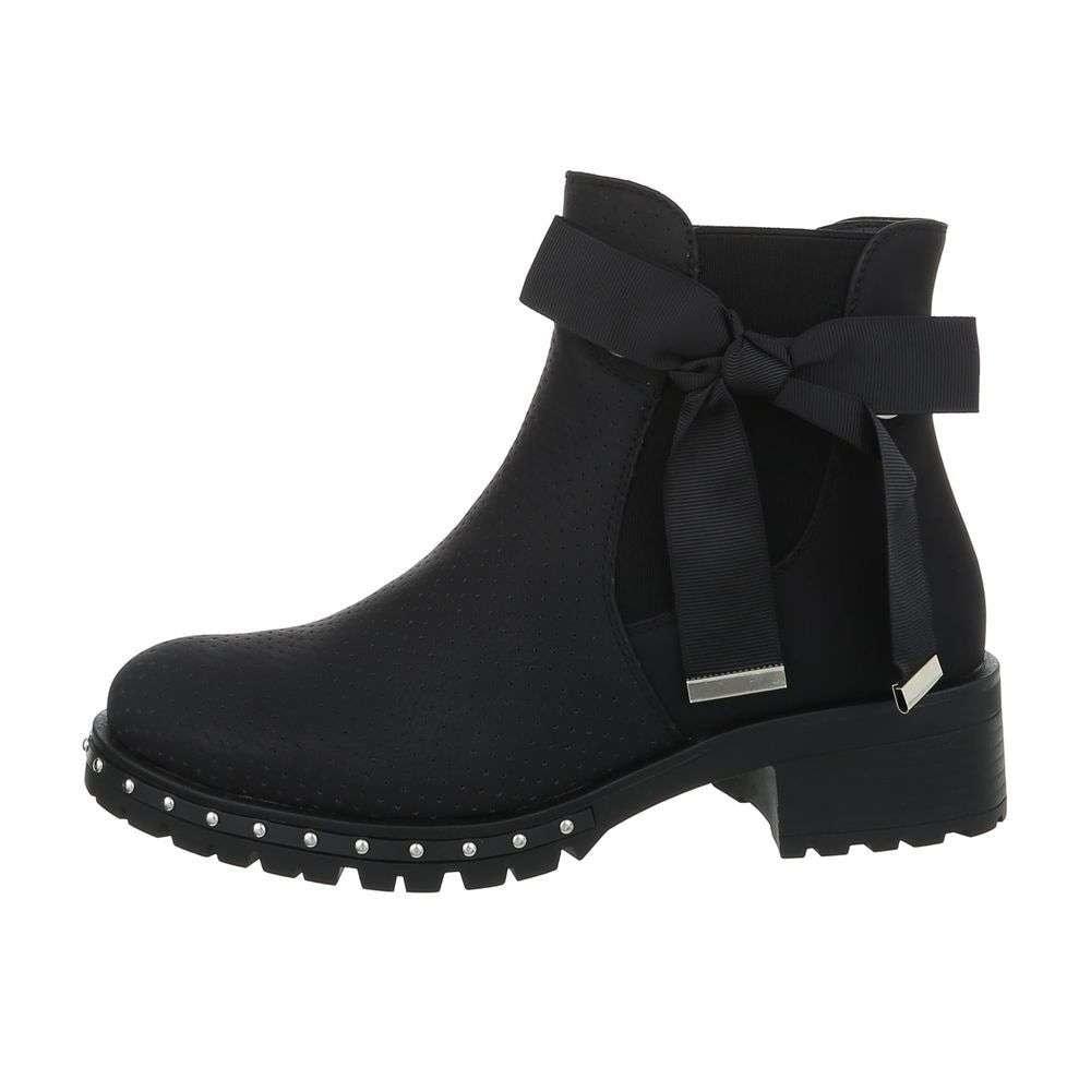 Čierne členkové topánky dámske - 36 EU shd-oko1051bl