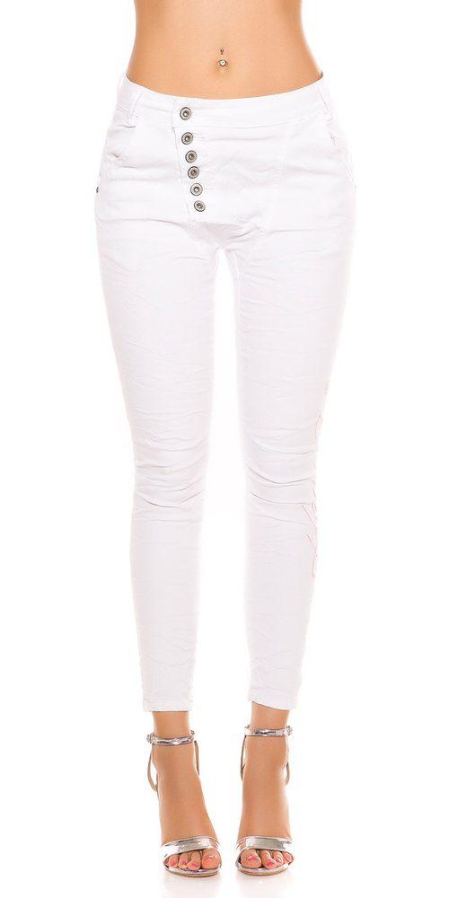 Bílé dámské džíny - II. jakost Koucla in-ri1036wh-v