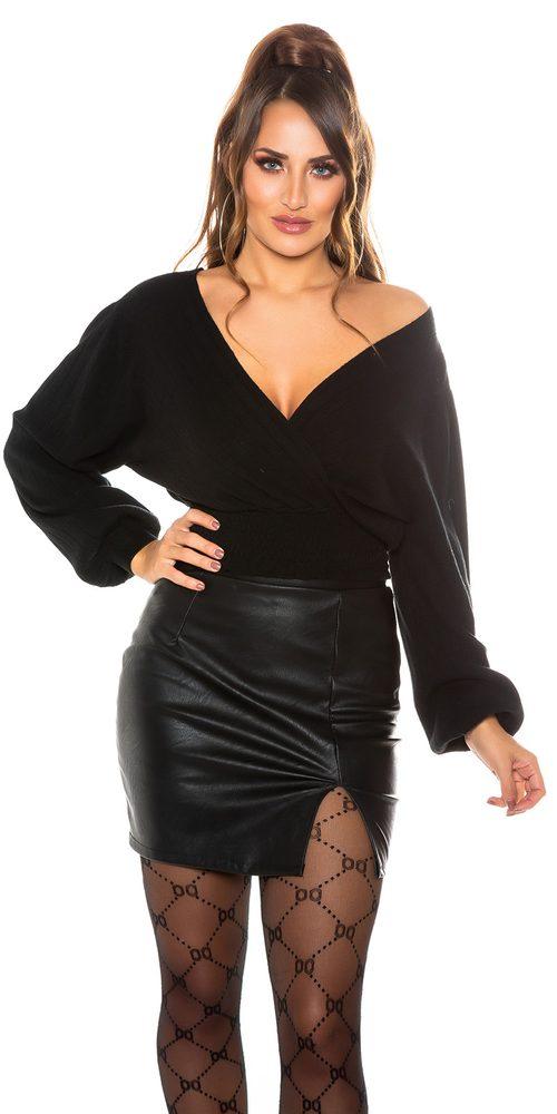Koucla Černý dámský svetr