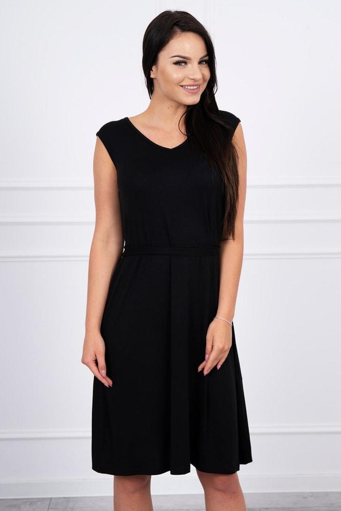 Dámske čierne šaty - XL Kesi ks-sa8899bl
