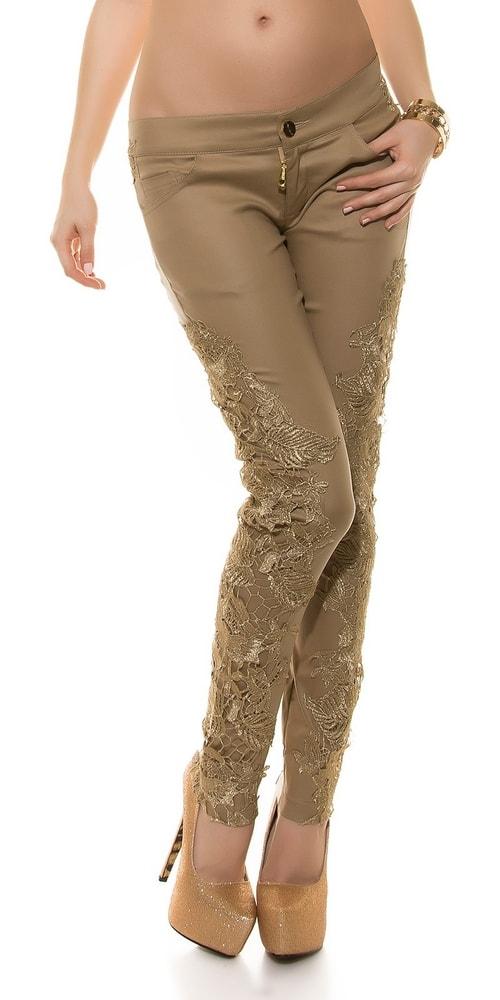 Dámske nohavice s čipkou - XL Koucla in-ka1156be