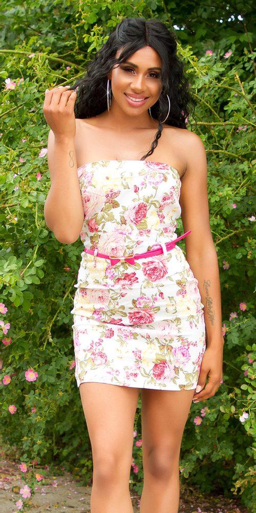 Dámské letní mini šaty Koucla in-sat2218wh