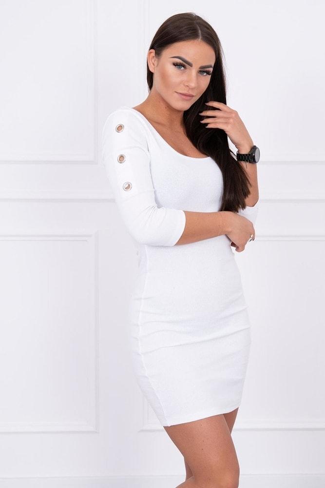 Volnočasové dámské šaty - S/M Kesi ks-sa5324wh