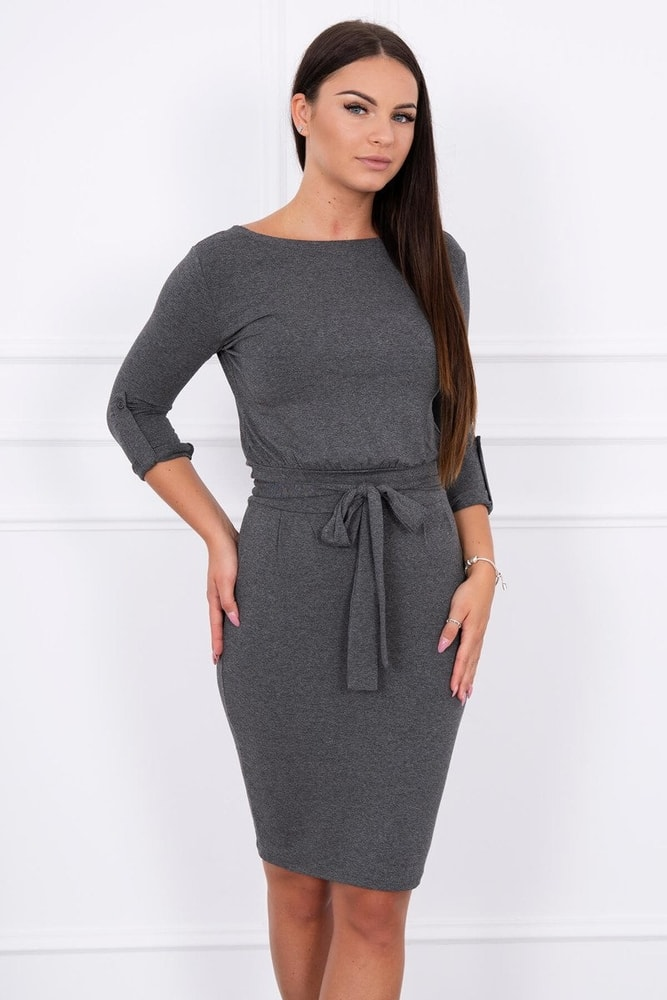 Dámské šedé šaty Kesi ks-sa8925tg