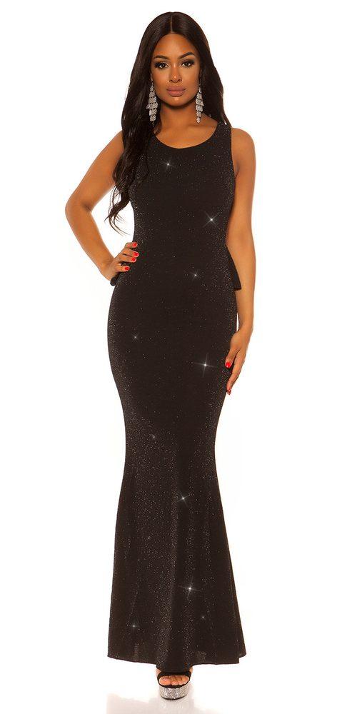 Čierne spoločenské šaty - M Koucla in-sat2099bl