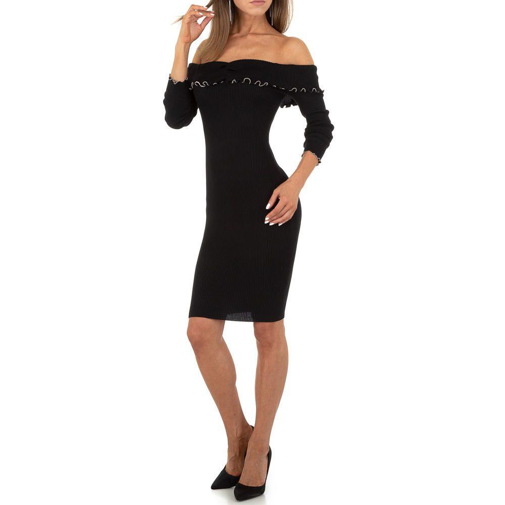 Dámské šaty z úpletu EU shd-sat1243bl