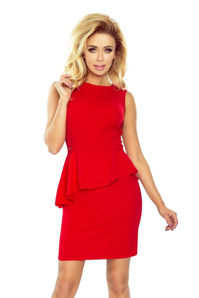 Červené dámske šaty 178-1 Numoco nm-sat178re