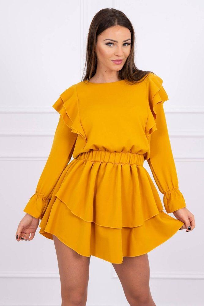 Mini šaty s volánmi Kesi ks-sa66047ge