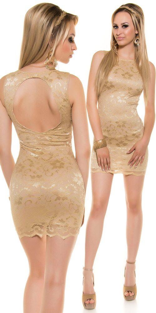 Dámské mini šaty s krajkou - L Koucla in-sat1332ch