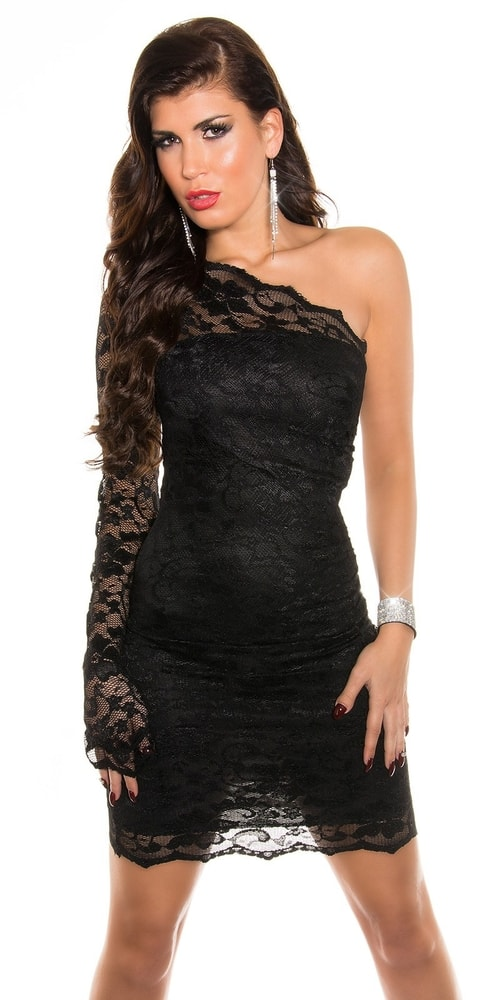 Čierne čipkované šaty Koucla in-sat1187bl