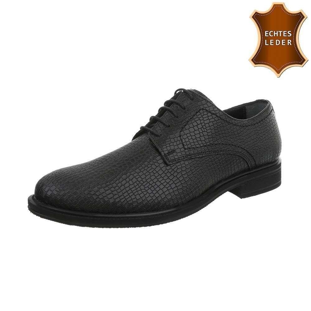Čierne pánske spoločenské topánky shp-osp1050bl