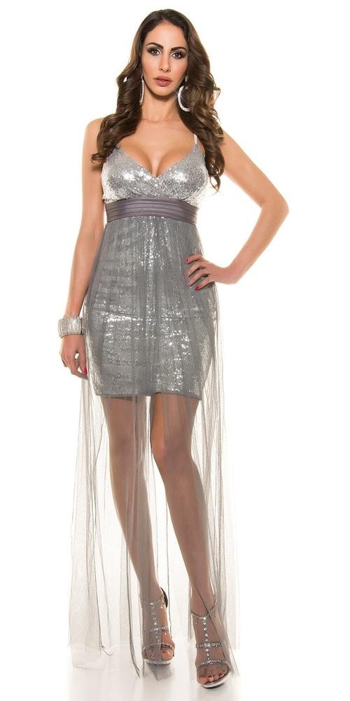 Spoločenské šaty šedé - 34 Koucla in-sat1223gr