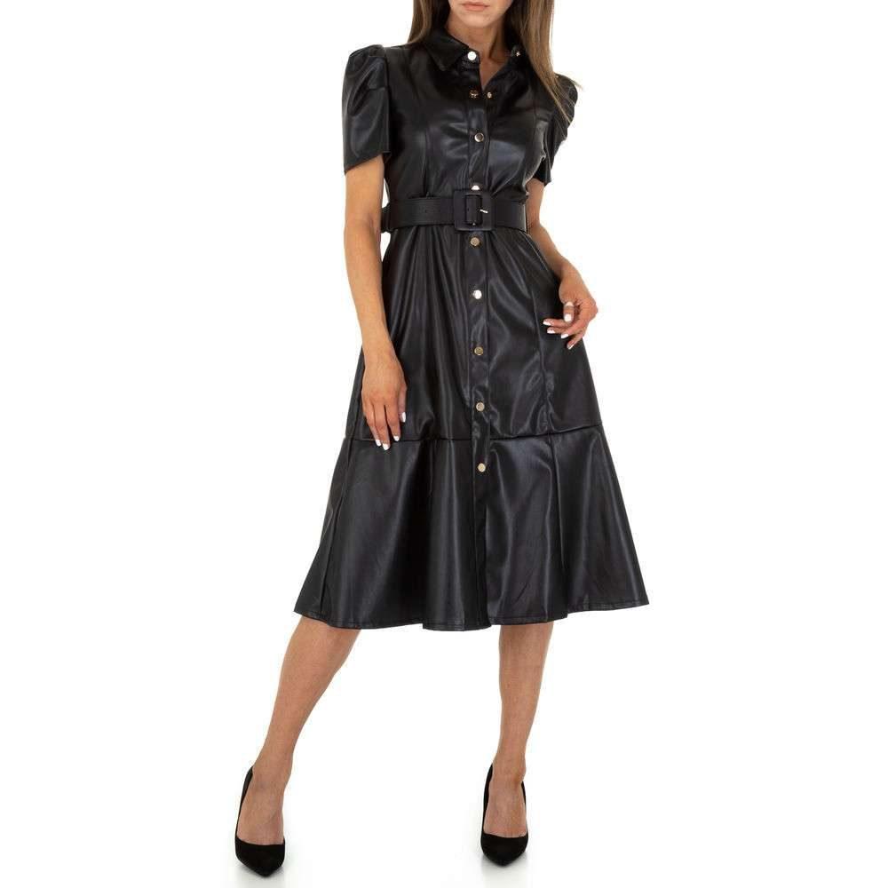 Dámské šaty z koženky EU shd-sat1270bl