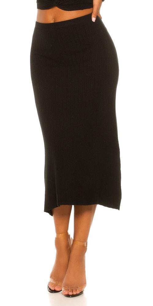 Úpletová dámska sukňa Koucla in-su1049bl