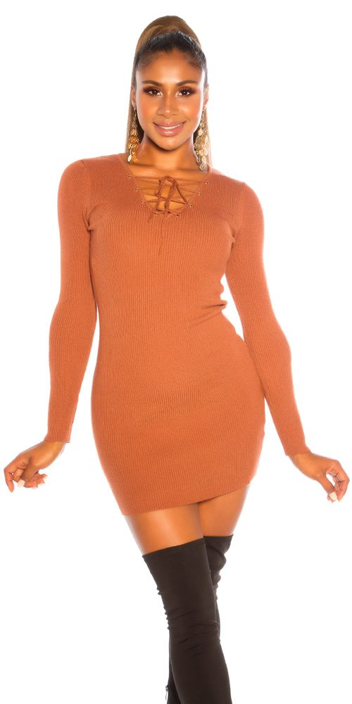 Úpletové mini šaty Koucla in-sat2235br