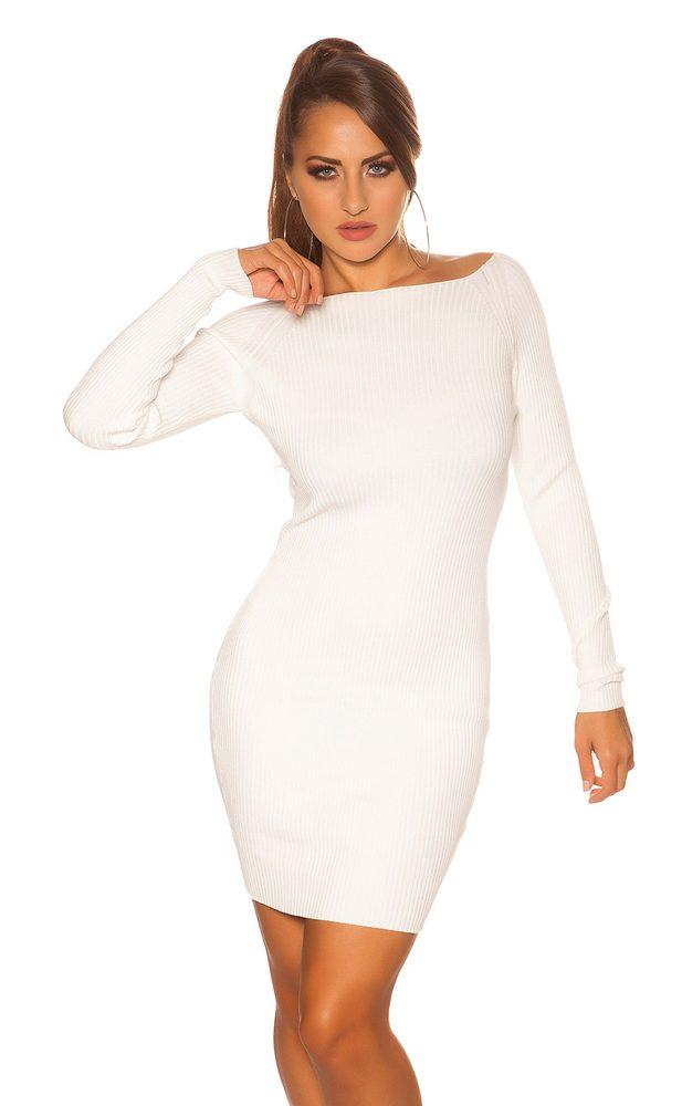 Dámské šaty z úpletu Koucla in-sat2096wh