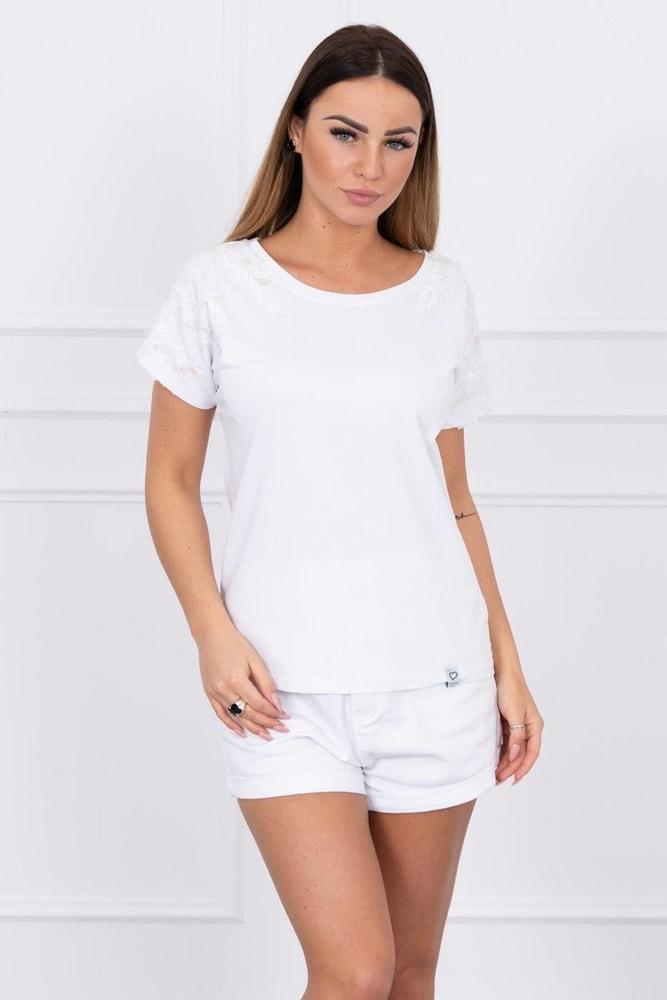 Bílé tričko Kesi ks-tr61147wh